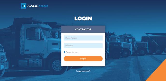 Contractor login